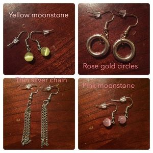 Lot of 23 pairs of small earrings